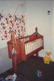 My crib, circa 1986